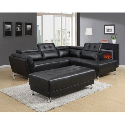 Sectional Upholstery : Black