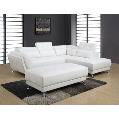 Sectional Upholstery : White