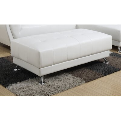 Ottoman Upholstery Color: White