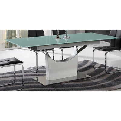 Pedestal Base Extendable Dining Table