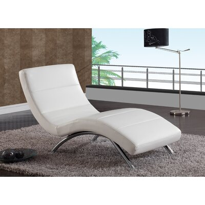 Chaise Lounge Color: White