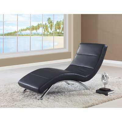 Chaise Lounge Color: Black