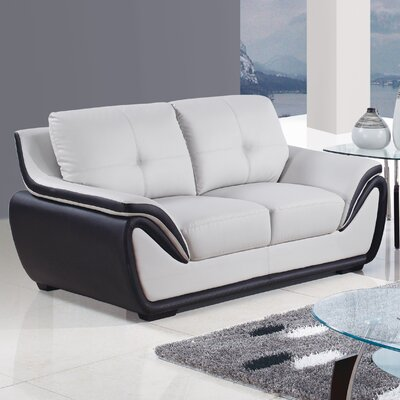 Global Furniture USA U3250-R6U6-GR/BL-L Loveseat