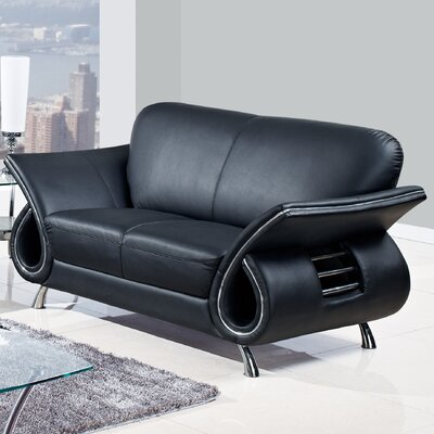Loveseat Finish: Black