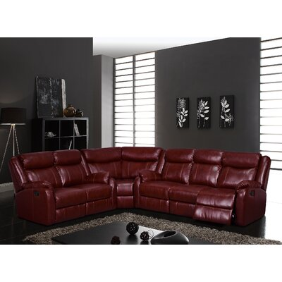 Sectional Upholstery: Burgundy