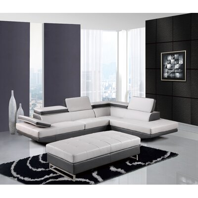 Global Furniture USA U8137N-2PC SEC (M) Natalie Sectional