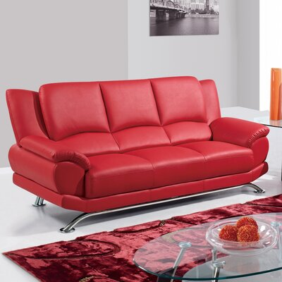 Sofa Upholstery: Red