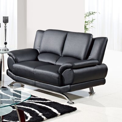 Loveseat  Color: Black