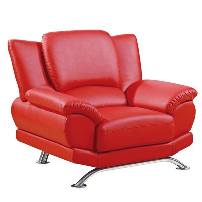 Armchair Color: Red