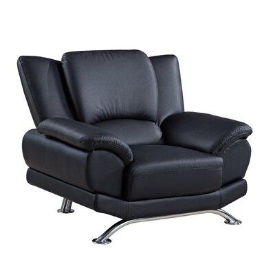 Arm chair Color: Black