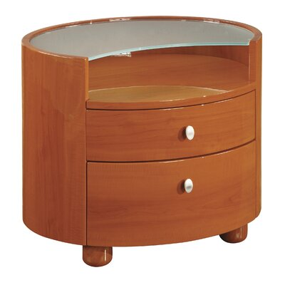 Emily 2 Drawer Nightstand Color: Cherry
