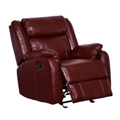 Glider Recliner Upholstery Color: Burgundy