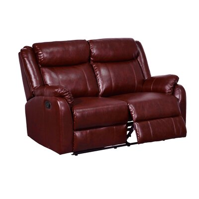 Reclining Loveseat Upholstery Color: Burgundy