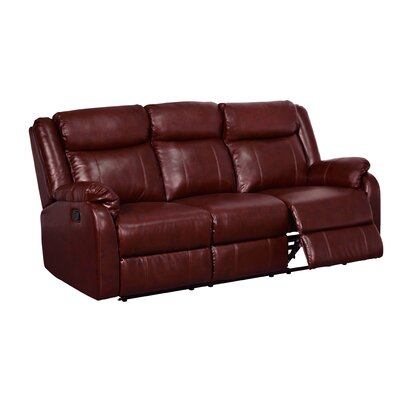 Reclining Sofa Upholstery Color: Burgundy