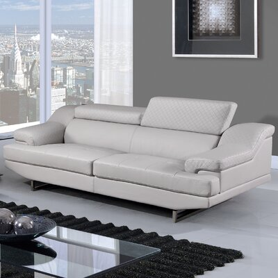 Natalie Sofa Upholstery Color: Light Gray