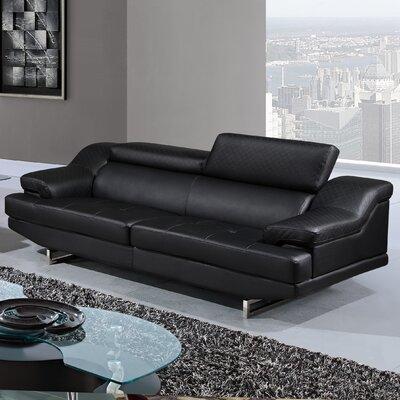 Natalie Sofa Upholstery Color: Black