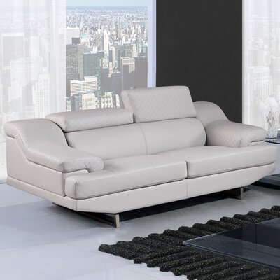 Natalie Loveseat Upholstery Color: Light Gray