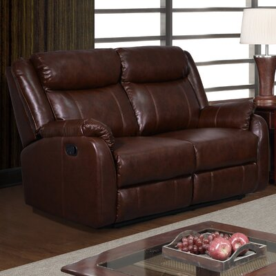Reclining Loveseat Upholstery Color: Brown