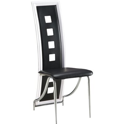 Side Chair Set of 4 Upholstery Black
