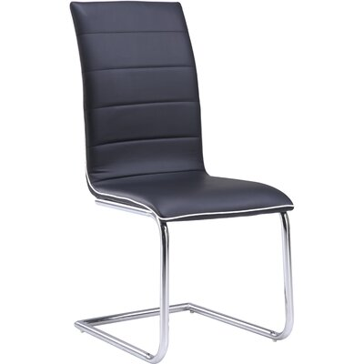 Side Chair (Set of 4) Upholstery: Black