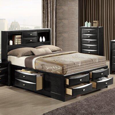 Linda Storage Platform Bed Finish: Black, Size: King