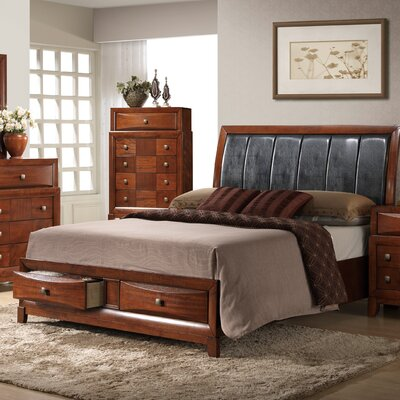 Oasis Upholstered Panel Bed Size: Queen