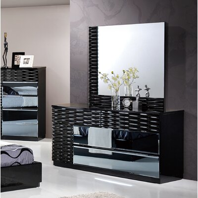 Manhattan 6 Drawer Dresser with Mirror
