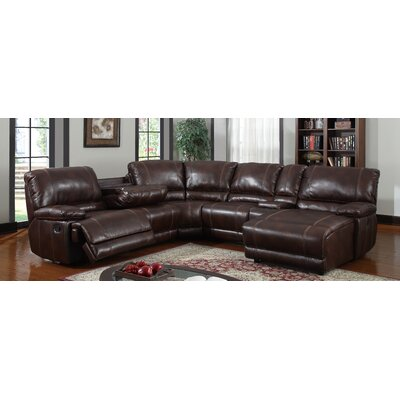 U1953-SEC LAF & RChs  w/o POWER(M) Global Furniture USA Brown Sectionals