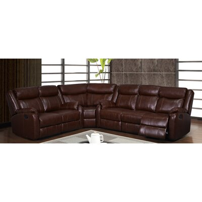 U9303C-BR-3PC SEC (SP) Global Furniture USA Brown Sectionals