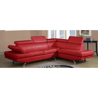 Global Furniture USA U9782-SECTIONAL-RED Sectional Upholstery
