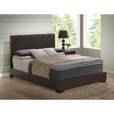 Upholstered Platform Bed Upholstery: Brown, Size: Queen
