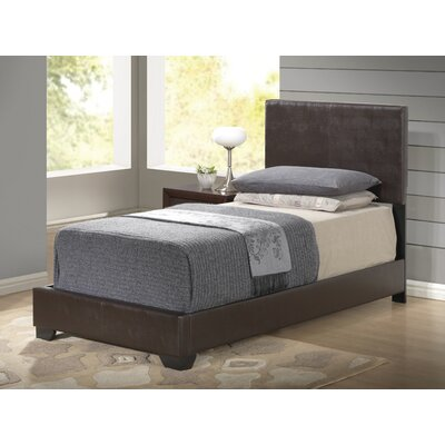 Upholstered Platform Bed Upholstery: Brown, Size: Twin