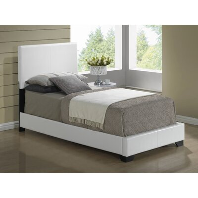 Upholstered Platform Bed Size: Twin, Upholstery: White