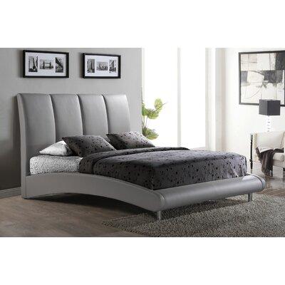 Upholstered Platform Bed Upholstery: Grey, Size: King