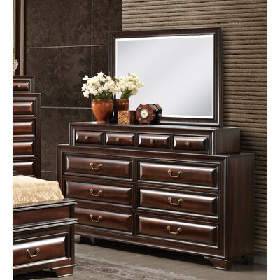 Sarina 10 Drawer Dresser with Mirror