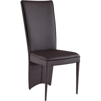 Edwards Upholstered Dining Chair (Set of 2) Upholstery Color: Brown