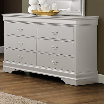 Lampkins 6 Drawer Dresser Color: Silver
