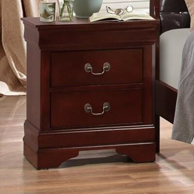 Lampkins 2 Drawer Nightstand Color: Merlot