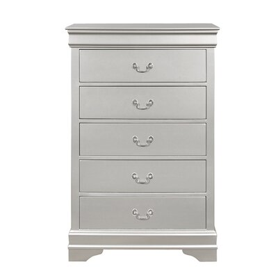 Lampkins 5 Drawer Chest Color: Silver