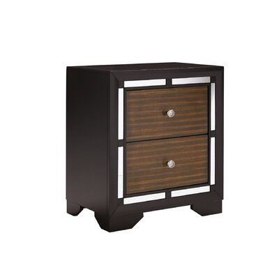 Landrum 2 Drawer Nightstand