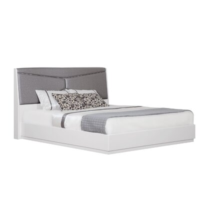 Landy Upholstered Panel Bed Size: King
