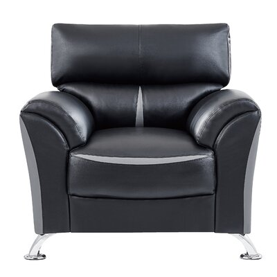 Lebel Club Chair Upholstery: Black/Gray