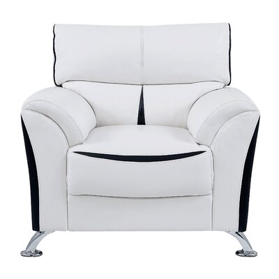 Lebel Club Chair Upholstery: White/Black