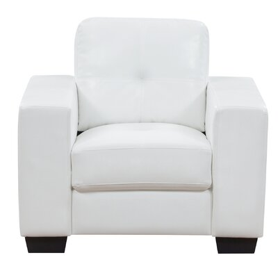 Leday Club Chair Upholstery: White