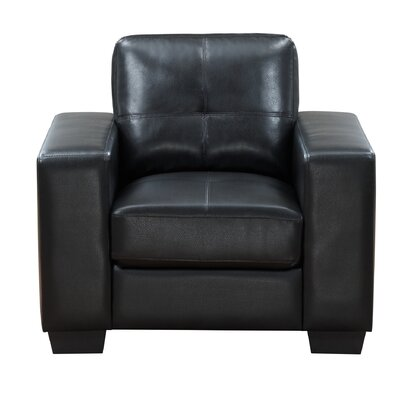 Leday Club Chair Upholstery: Black