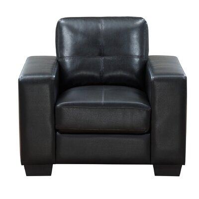 Leday Club Chair Upholstery: Black