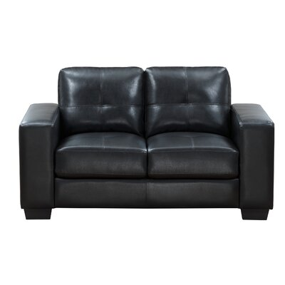 Lecroy Loveseat Upholstery: Black