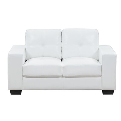 Lecroy Loveseat Upholstery: White