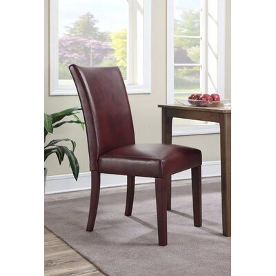 Bishop Upholstered Dining Chair Upholstery Color: Black