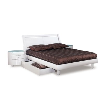 Pinion King Storage Platform Bed